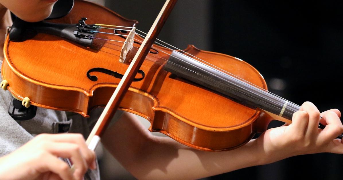 ヴァイオリンを弾くひと